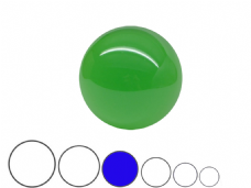 Jac Products Emerald Green Translucent 80mm Acrylic Contact Ball